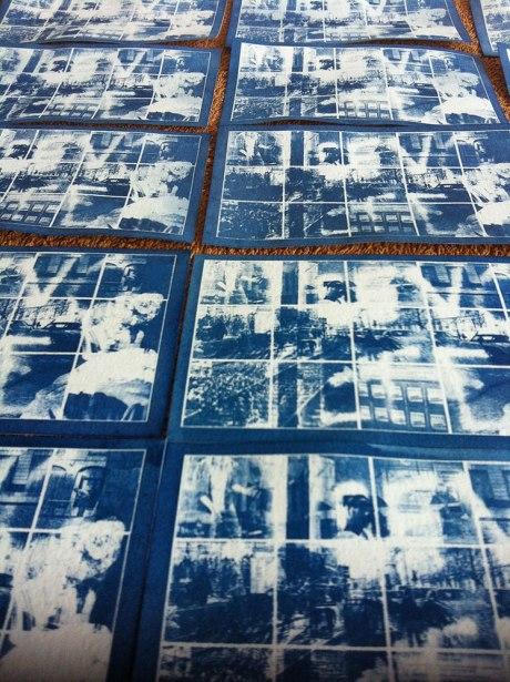 """Impression (UV soleil sur papier à grain) pour édition """"Emulsions"""""""