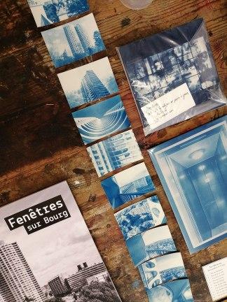 Cyanotypes et maquette de livre